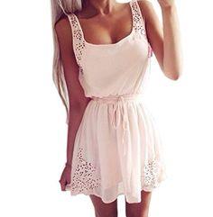 Yollmart Womens Hollow Out Chiffon Beach Dress Club Evening Summer Skirt Blouse 003XXL * See this great product.