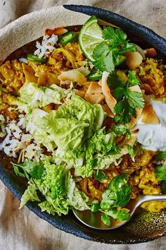 This Simple Turmeric Curry Tastes Like You Spent Hours at the Stove — Bon Appétit Grilled Cabbage, Chicken And Cabbage, Napa Cabbage, Corn Beef And Cabbage, Turmeric Curry Recipe, Turmeric Recipes, Curry Recipes, Buckwheat Salad, Pork Curry