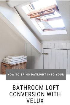Bringing natural light into my bathroom loft conversion with Velux Roof Windows Loft Bathroom, Bathroom Layout, Small Bathroom, Bathroom Designs, Roof Replacement Cost, Roof Window, Modern Shower, Cool Diy Projects, Home Organization
