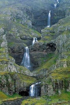 The Mahon Falls  in Waterford, Ireland.