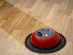 The O-Duster Robotic Floor Cleaner is a rotating duster that automatically navigates around your rooms and removes dust and hair on a disposable electrostatic cloth. It has a very low profile so it can easily maneuver under your furniture and clean up all those hard to access places. It is also specially designed to clean along the walls. It works best on hard wood, linoleum and tiled floors.