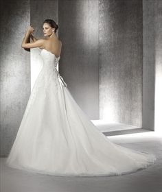 San Patrick Wedding Dress Argel back