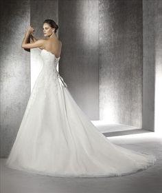 San Patrick Wedding Dress Argel back