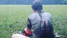 Catherine King, of the Phoenixville White Horse Women's Rugby, played her first match back in torrential rain and mud after suffering a devastating injury just 7 months ago.
