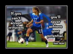 Soccer Champion Inspirational Poster Photo Quote Wall Art Gift Kids Wall Decor Office Decor Home Decor Tobin Heath by ArleyArt on Etsy Soccer Player Quotes, Soccer Memes, Soccer Players, Girls Soccer Quotes, Soccer Goalie, Football Quotes, Quotes Girls, Sport Quotes, Soccer Cleats