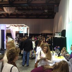 Good crowd at the Rochester bridal show