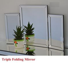 TRIPLE FOLD MIRROR FOR DRESSING TABLES | Health & Beauty, Make-Up, Make-Up Tools & Accessories | eBay! White Makeup Vanity, Makeup Vanities, Dressing Tables, Makeup Tools, Mirror, Health, Christmas, How To Make, Accessories