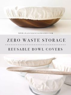Low Waste Storage Options – Reusable Bowl Covers – Planted in the Woods – Eco-friendly swaps Fee Du Logis, Recycling, Fabric Bowls, Ideias Diy, Eco Friendly House, Green Life, Go Green, Sustainable Living, Natural Living