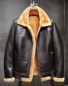 Mens Shearling Jacket, Men's Leather Jacket, Shearling Coat, Leather Jackets, Fur Jacket, B3 Bomber Jacket, Bomber Jackets, Winter Fur Coats, Mens Winter Coat