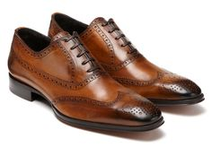 Cap-toes shoes in a light brown #MensFall2012