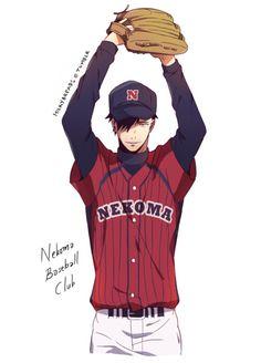 kuroo, dia no ace crossover, pitcher, http://haikyuu-reacts.tumblr.com/post/118377487739/milkybreads-diamond-no-ace-crossover-thank-you