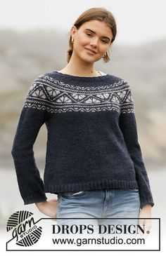 Nordic - Free knitting patterns and crochet patterns by DROPS Design Drops Design, Knitting Paterns, Free Knitting, Crochet Patterns, Winter Sweaters, Sweaters For Women, Drops Karisma, Icelandic Sweaters, Fair Isle Pattern