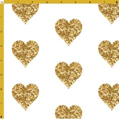 Buy Gold Glitter Hearts Baby Fabric custom fabric, wallpaper and home accessories by willowlanetextiles on Spoonflower Glitter Hearts, Gold Glitter, Bright Bedding, For Elise, Fabric Hearts, Baby Fabric, Heart Wallpaper, Fabric Wallpaper, Glitter Fabric