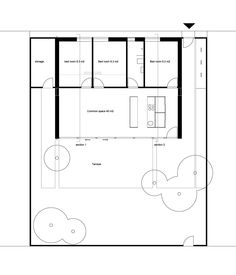 This small family house in Copenhagen has an economical design providing 3 bedrooms in 861 sq ft. | www.facebook.com/SmallHouseBliss