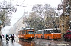 Early snow in Sofia, Bulgaria