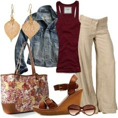Weekend Wear Love this casual look. Need some linen pants. New Outfits, Spring Outfits, Casual Outfits, Cute Outfits, Fashion Outfits, Womens Fashion, Fashion Trends, Fashionista Trends, Work Outfits