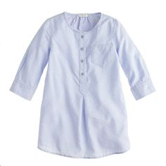 with grey legging- so chic! J.Crew - Girls' tunic in tissue oxford