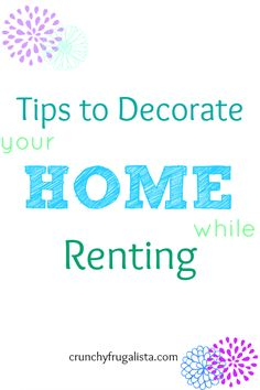 Tips to decorate your home while you renting #homedecor #tips
