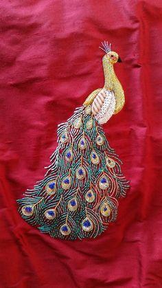 Embroidery On Kurtis, Kurti Embroidery Design, Embroidery Works, Embroidery Saree, Indian Embroidery, Japanese Embroidery, Gold Embroidery, Hand Embroidery Designs, Embroidery Patterns