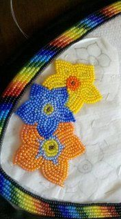 flowers on my moccasins; beading, beadwork, bead work, native american, first nations, indigenous