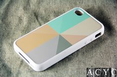 Color Piece iPhone 4 iPhone 4S Case,Hard Plastic Case and Rubber Case