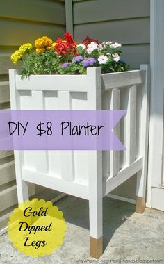 DIY Planter with Gold Dipped Legs