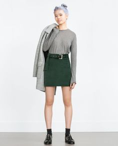 Image 1 of MINI SKIRT WITH BELT from Zara
