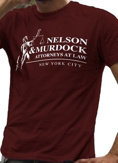 Daredevil T-Shirt Nelson and Murdock Attorneys at Law - LeRage Shirts MEN'S… Iron Man, Film Science Fiction, Funny Shirts, Tee Shirts, Attorney At Law, Mens Clothing Styles, Branded T Shirts, T Shirts For Women, Shirts