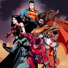 Justice League by olifux art