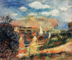 Pierre Auguste Renoir The Banks Of The Seine At Argenteuil oil painting reproductions for sale