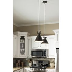 Shop allen + roth 8-in W Bronze Mini Pendant Light with Metal Shade at Lowes.com