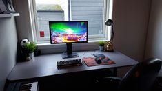 New year new desk? Gaming Room Setup, Computer Setup, Pc Setup, Desk Setup, Gaming Pcs, Home Office Setup, Room Goals, Game Room, Macbook