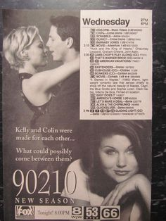 Beverly Hills 90210, Jennie Garth, Tiffani Amber Thiessen, TV Guide Ad