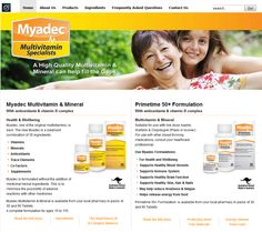 For more information on how to make such website please click on the picture.  Myadec was one of the first multivitamin and mineral formualtions to be sold in Australia.    Their website uses JSN Epic with the bright orange tone to deliver the fresh, healthy and lively appearance.