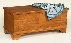 Amish Cherry Wood Medium Flat Top Hope Chest