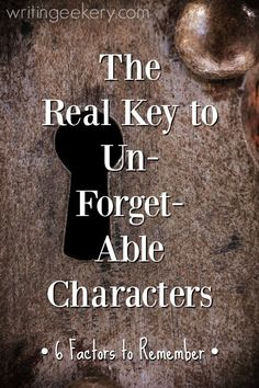 How to write unforgettable characters