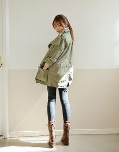 ボンバーミリタリーブルゾン-大人かわいい韓国ファッション通販,大人女子にうれしいおしゃれアイテム多数coco-closet