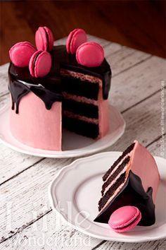 Tarta de chocolate y frambuesa   Little Wonderland