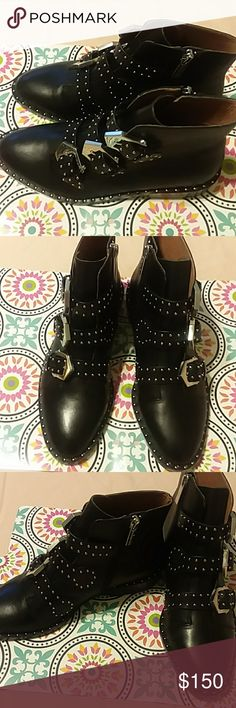 Brand new Gianni Bini Black buckle ankle boots with silver beads. Brand new Gianni Bini Shoes Ankle Boots & Booties