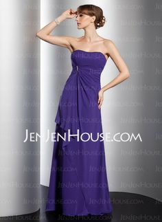 Bridesmaid Dresses - $119.99 - A-Line/Princess Sweetheart Floor-Length Chiffon Bridesmaid Dresses With Ruffle (007001097) http://jenjenhouse.com/A-line-Princess-Sweetheart-Floor-length-Chiffon-Bridesmaid-Dresses-With-Ruffle-007001097-g1097