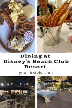 Disney World Resorts | Dining at Disney's Beach Club Resort | #DisneyWorldResorts #DisneyEpcotResorts #DisneyDeluxeResorts #DisneyWorldTips #DisneyDining #DisneyWorldRestaurants #DisneyWorld #WDW | yourfirstvisit.net Disney World Deals, Disney World Food, Disney World Restaurants, Disney World Planning, Disney Vacation Club, Walt Disney World Vacations, Polynesian Village Resort, Seafood Buffet, Beach Club Resort