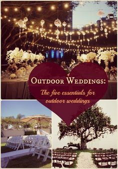 A list that will help #brides remember the foundational elements that are essential to organizing the perfect #outdoor #wedding #ceremony.