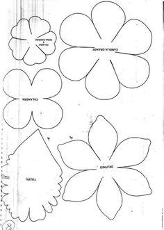 Tutorial flor feltro