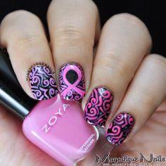 Magically Polished |Nail Art Blog|: Breast Cancer Awareness '13 Nails #awareness