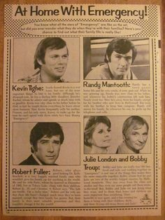Randolph Mantooth, Randy, Emergency, Full Page Vintage Clipping, Robert Redford