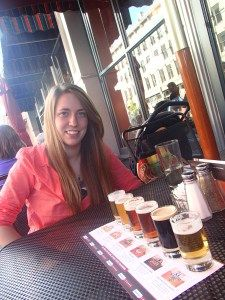 Beer tasting at Rock Bottom Brewery, such an Oregonian thing to do. #travel #beer