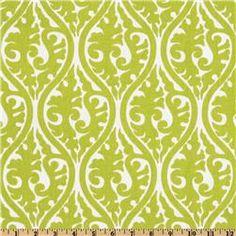 Premier Prints Kimono Chartreuse/White