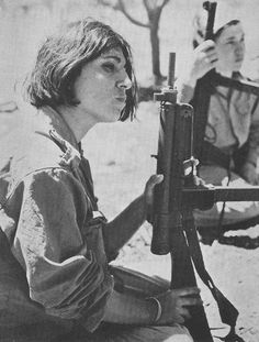 A Palestinian woman in training camp. Jordan, 1969. Yes.