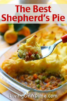 This Best Shepherd's Pie Recipe is an easy way to use leftovers. You'll also find easy leftover tips and a yummy Banana Cream Brownie Delight dessert!