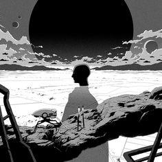 #nzcalines #NewAtmosphere #Single #SingleArtwork #SciFi #illustration #MoshiMoshiMusic #JeremiePerin